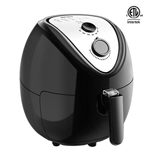 Cheap ROVSUN Electric Air Fryer XL 5.6QT Capacity, 1800W Air Frying Technology with Temperature and Time Control, Removable Dishwasher Safe Basket, Includes Metal Holder and Cooking Tongs, ETL Listed