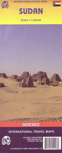 Sudan Map by ITMB (Travel Reference Map)