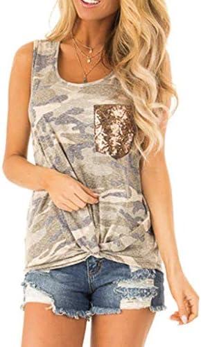 [해외]haoricu 여성 조끼 2019 새로운 여름 여성 패션 포켓 탱크 탑 민소매 티셔츠 / haoricu 여성 조끼 2019 새로운 여름 여성 패션 포켓 탱크 탑 민소매 티셔츠