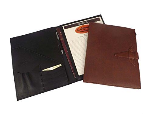 (Handmade by Amish Genuine Leather Deluxe Padfolio/Portfolio Organizer & Writing Pad 1C1013D (Black))