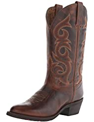 Laredo Womens Frankie Round Toe Leather, Nylon Western Boots