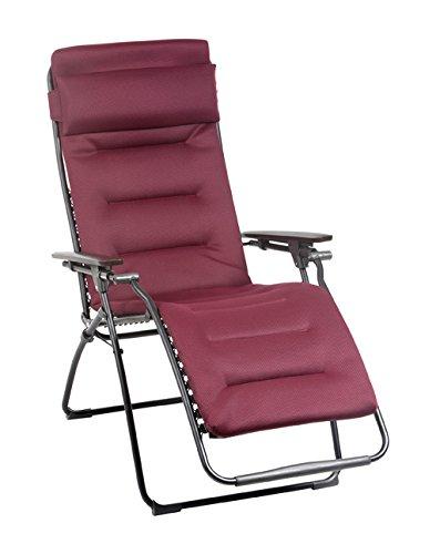Lafuma futura air comfort zero gravity chair black steel - Chaise camping lafuma ...
