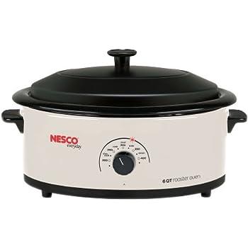 Nesco 6 Quart Capacity Ivory Roaster Oven