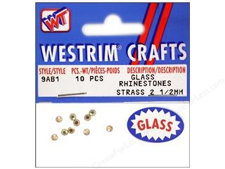 Westrimガラスラインストーンフラット2.5 MM – 10個   B001E5ZU1Y