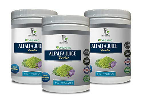 Organic antioxidant Supplement - Alfalfa Organic - Juice Powder - superfood Powder Energy - 3 Cans 24 OZ (150 Servings) by PL NUTRITION (Image #7)