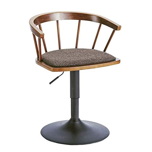 JINXUXIONGDI Floor-Standing high Bracket Solid Wood Bar Stool Fashion Rotating Bar Chair Simple Short Windsor Chair Home Lift Chair Suitable for Counter Kitchen Breakfast Chairs ()