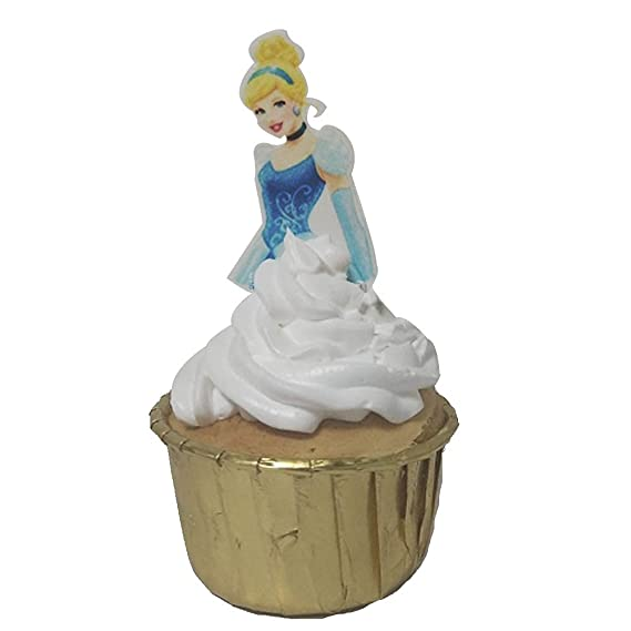 II Pre-Cut Edible Stand up Ice Princess Cake Set Wafer Snow Queen Decorations