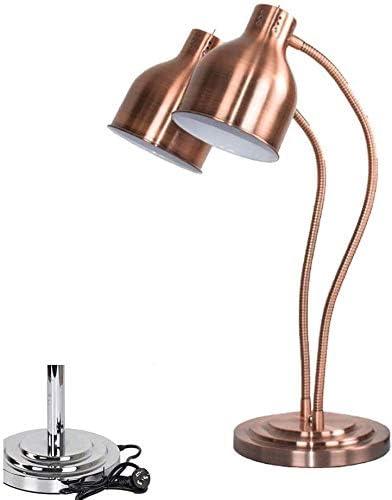 LAMTON Küche Lebensmittel Heizung Warmer Lampe Einzel/Doppel-Birnen Buffet Schnitzerei Lampe Anzeige Heizung Preservation Licht, bewegliche 250-Watt-Wärmelampe