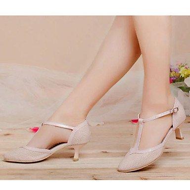 Rosado de Negro No grueso Personalizable Zapatos Pink Tacón Danza latina baile Blanco wEtnF