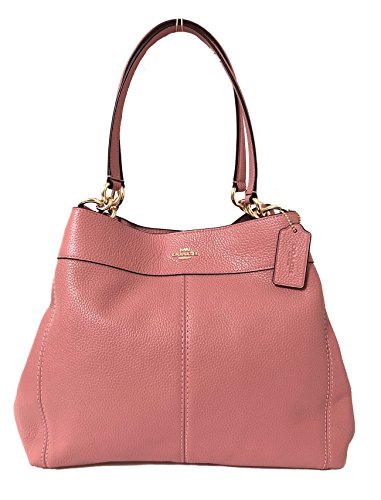 Coach F57545 Lexy Pebble Leather Shoulder Bag (IM/Vintage ()