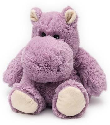 (HIPPO JUNIOR - WARMIES Cozy Plush Heatable Lavender Scented Stuffed Animal by Intelex)