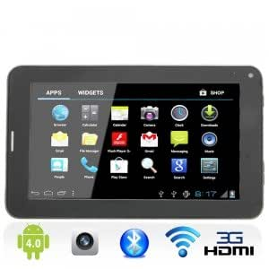 """7"""" Capacitive Touch Screen Android 4.0 4GB Phone Tablet PC 2G Bluetooth Black"""