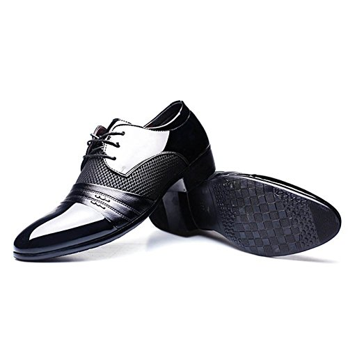 Chaussures Formelles de Derby pour Les Hommes Chaussures causales d'Oxford pour l'affaires de Mariage et l'usage Quotidien Lacent Les Chaussures en Cuir d'unité Centrale Approprié Bout Pointu 4748 Noir lMcplEhU