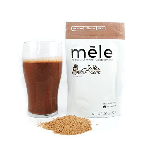 Mele, All-Natural Meal Replacement, Cocoa-nut // 500 calories // NO ADDED SUGAR, NON-GMO, NO SOY, NO PRESERVATIVES, NO TRANS (Full Meal Replacement)