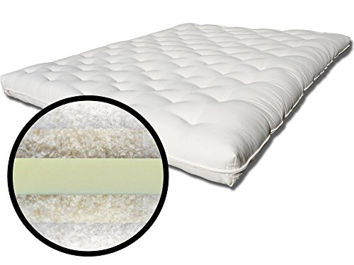 Care Plus Cotton, Wool and Soy Foam Extra Firm Futon Mattress Eastern King ()