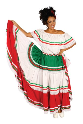Alexanders Costumes Spanish Dancer, Tri Color, One Size (Adult Spanish Dancer Costume)