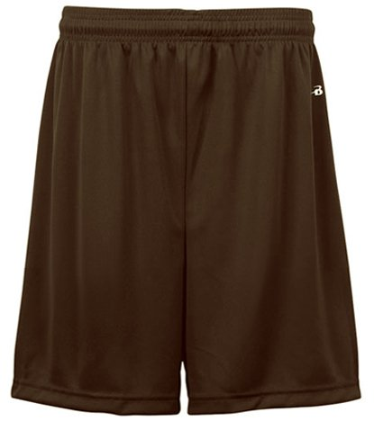Badger Sportswear Youth Elastic Waist Shorts, brown, Large [Apparel] ()