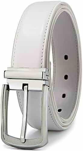 7b0931f1b2c4f Men's Belt,Bulliant Leather Adjustable Belt for Men Dress Casual 1 3/8,