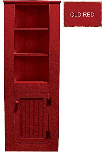 red corner cabinet - 9