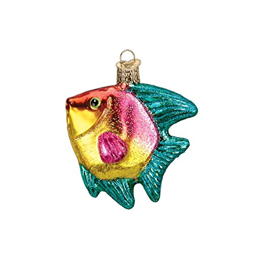 Old World Christmas Tropical Angelfish Glass Blown Ornament