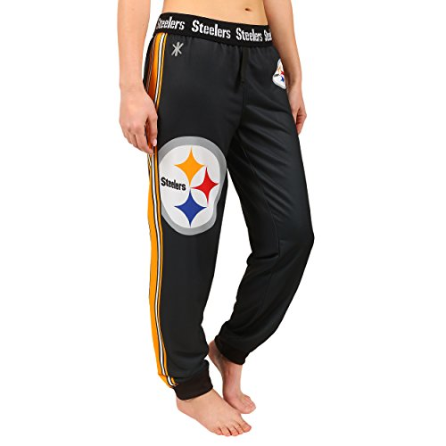 NFL Pittsburgh Steelers Women's Jogger Pants, Medium, Black at Steeler Mania