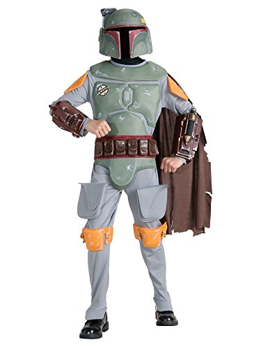 Boba Fett Halloween Costumes (Star Wars Boba Fett Deluxe Child Costume (Large))