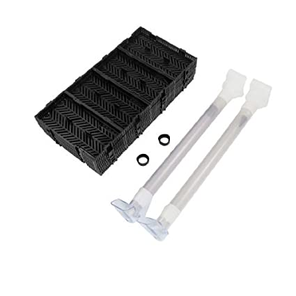 eDealMax Junta de filtro 24 piezas de plástico Negro del acuario del tanque Inferior 6 Capas