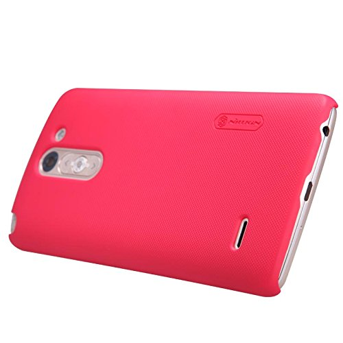 G3 Stylus Shield Case, Monoy Super Frosted Shield Hard Case Cover With Screen Protector Compatible for LG G3 Stylus, D690, D693 (Bright-Red Shield Case)