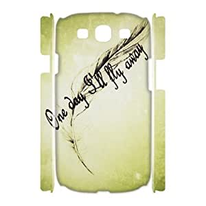 Feather Quote Fly Unique Design 3D Cover Case for Samsung Galaxy S3 I9300,custom cover case ygtg617007