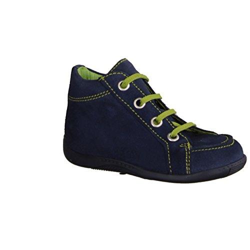 Däumling - Zapatos primeros pasos de cuero para niño azul azul