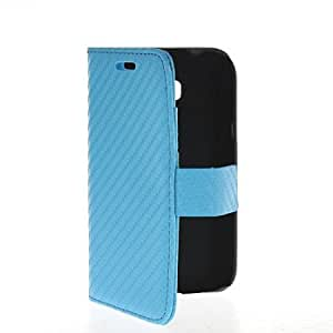 Viesrod MOONCASE Carbon Fiber Flip Wallet Card Pouch Stand Leather Case Cover For Samsung Galaxy Trend Lite (s7390) /...