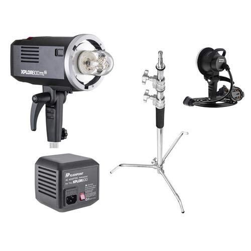 Flashpoint XPLOR 600 HSS TTL Battery-Powered Monolight Kit with XP-1200 Extention Head, AC Adapter, and C-Stand (Grip Professional Battery Flashpoint)