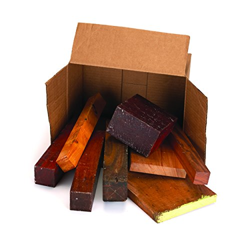 Exotic Wood Cut-Offs 10-Pound Box by Woodcraft Supply PW