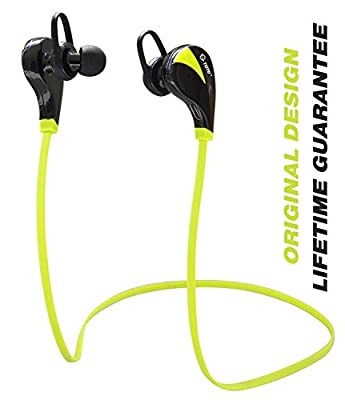 Bluetooth Headphones, Wireless Earbuds Earphones with Mic by TOTU - High Quality Stereo Sound Sweatproof for Sports - Made for iPhone 6 6s / iPhone 6 6s Plus, Samsung S6 / S6 Edge and More (Green)