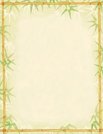 Amazon.com: Obra maestra bambú Hojas Letterhead – 8.5 x 11 ...