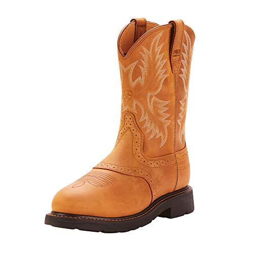 (ARIAT Men's Sierra Saddle Steel Toe Work Boot Aged Bark Size 9.5 Ee/Wide Us)
