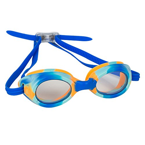 - Splaqua Kids Swim Goggles for Boys and Girls - Adjustable Straps, Silicone Eye Seal, UV Protection and Anti Fog Lenses Swimming Goggle - Blue Tie Dye - by