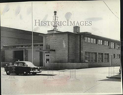(1953 Press Photo New Sparta, Fire and Police Station building - mjc01424 - Historic Images)