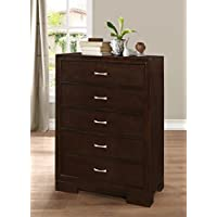 Roundhill Furniture Montana Modern Wood Chest, Walnut
