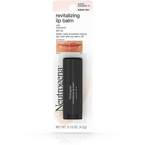 Neutrogena Revitalizing Lip Balm Spf 20, Sheer Shimmer 10.15 Oz. (Pack of 2) - Neutrogena Lip Sheers