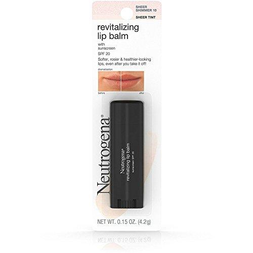 (Neutrogena Revitalizing Lip Balm Spf 20, Sheer Shimmer 10.15 Oz. (Pack of 2))