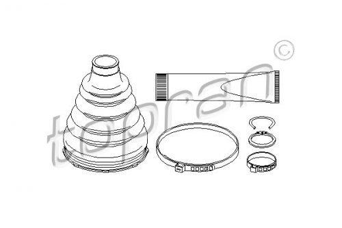 Front Axle Drive Shaft CV Boot Kit Fits BMW X5 E53 E46 Sedan Wagon 2000-