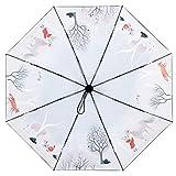 Umbrella Auto Open/Close Waterproof Uv Protection Rain Or Shine Dual-use Lightweight Triple-fold Travel Outdoor 5997cm (Umbrella1+Packet1) SYHZHY