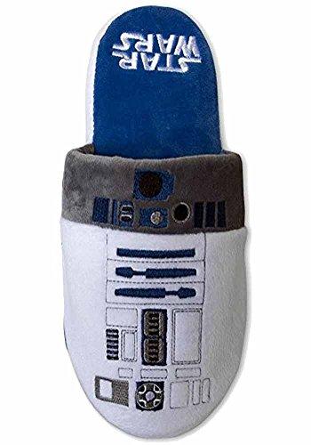 Slipper Ufficiale Star Wars R2-d2 Slip On Super Soft Slippers - 2 Taglie