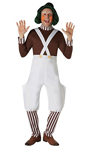 RUBIE'S COSTUME COMPANY INC Men's Willy Wonka and The Chocolate Factory Oompa Loompa Wig, As Shown, One Size ()