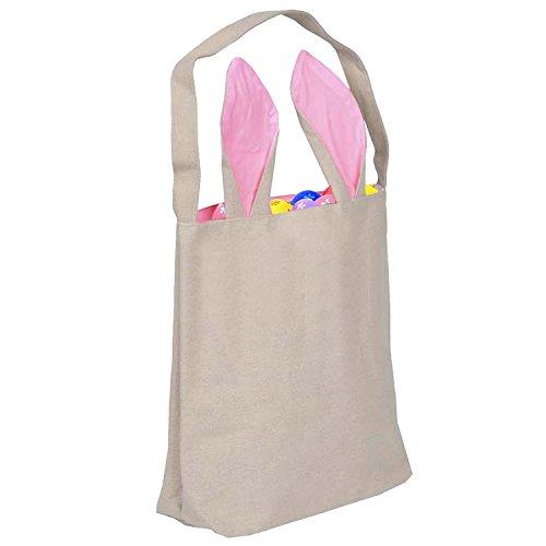 Bricolaje Bolsas Para Gosear Pink Pascua La Conejos Reutilizables Blanco De C4gnwqx0P