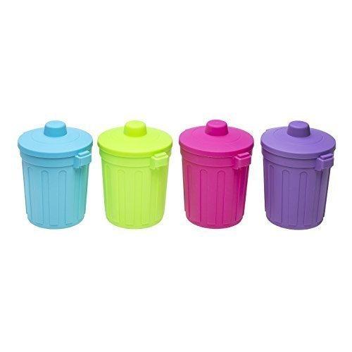 Tischabfalleimer Mini Mülleimer Abfalleimer mit Deckel Kosmetikeimer Behälter Eimer (Lila )