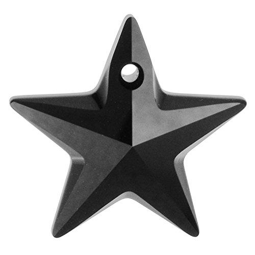 1 pc Swarovski Crystal 6714 Star Charm Pendant Jet Black 20mm / Findings / Crystallized - Tipperary Crystal Star