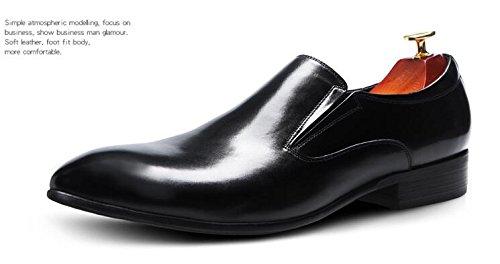 Happyshop (tm) Britse Stijl Heren Leren Schoen Oxfords Derbies Instappers Bruids Schoenen Zwart