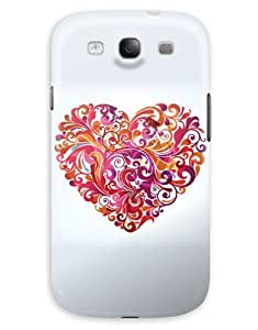 Pink Swirly Heart Case for your Galaxy S3